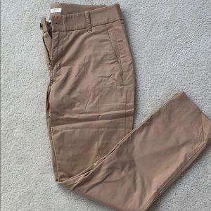 """J. Crew """"Frankie"""" Tan Pants"""
